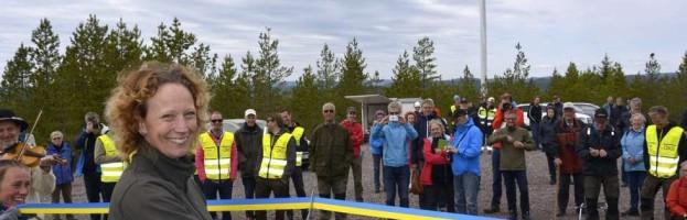 Invigning Mässingbergets vindkraftspark i Orsa